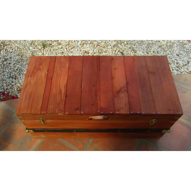 Rustic Coffee Table Trunk in Chestnut Finish For Sale In Palm Springs - Image 6 of 7