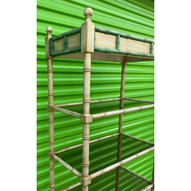 1960s Mid-Century Modern Faux Bamboo Etagere For Sale - Image 5 of 10