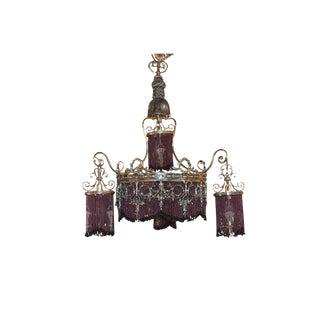 Antique Continental Silvered Chandelier