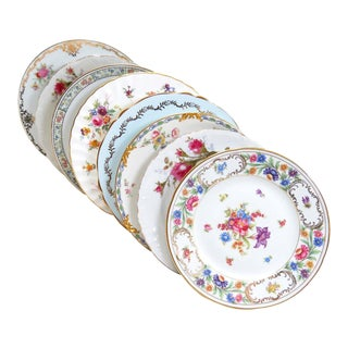 Vintage Mismatched Fine China Salad Plates - Set of 8 For Sale