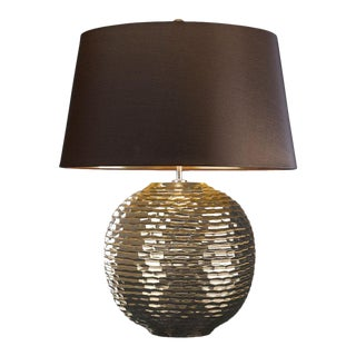 Caesar Gold Ceramic Orb Table Lamp For Sale