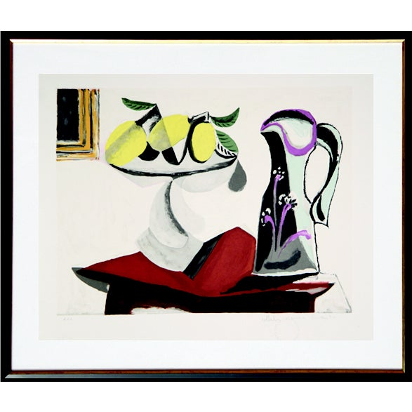 Pablo Picasso Lithograph - Nature Morte Au Citron - Image 2 of 2