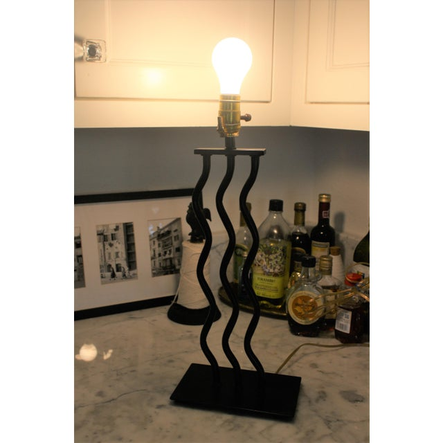 1980s Wave Memphis Style Table Lamp For Sale - Image 9 of 12