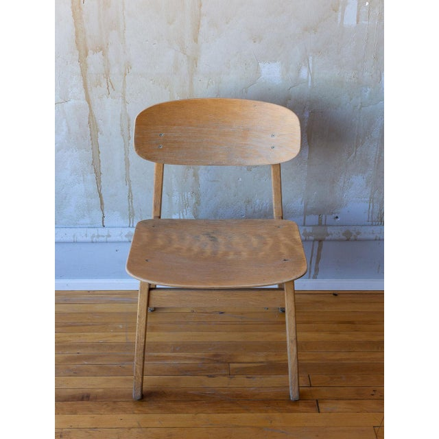 Wood Vintage Italian School Chairs- Set of 8 For Sale - Image 7 of 11