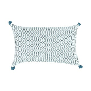 Handwoven Mexican Teal Pillow