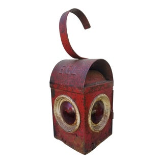 1930s English Road Side Lantern For Sale