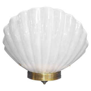 Oversized White Murano Shell Sconces by Barovier E Toso - 15 Available For Sale