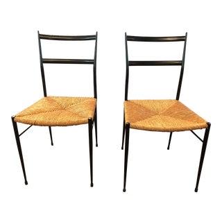 Gio Ponti Leggara Dining Chairs - a Pair For Sale