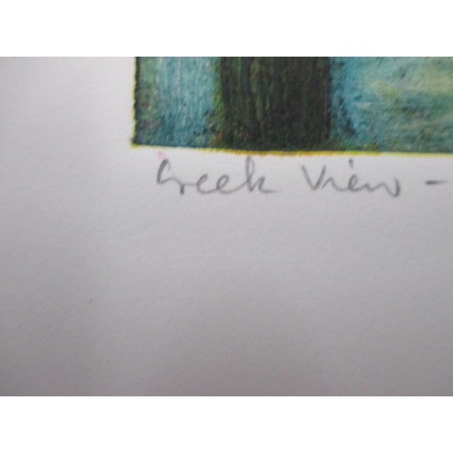 Vintage Color Lithograph Titled: Creek Views Signed by the Artist For Sale - Image 4 of 6