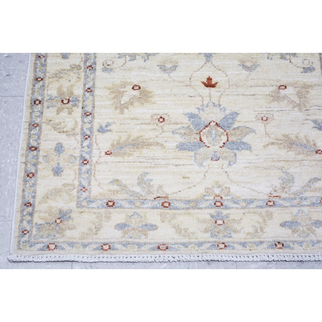 "1950s Vintage Turkish Anatolian Oushak Hand Knotted Organic Wool Fine Weave Rug,2'6""x11'2"" For Sale - Image 5 of 6"