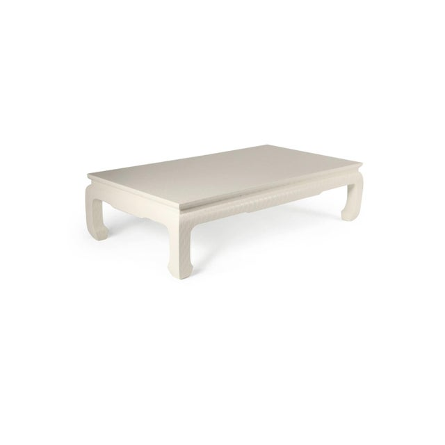 1950s 1950s Baker Grasscloth Wrapped Coffee Table by For Sale - Image 5 of 5