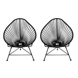 Black Innit Acapulco Chairs - A Pair For Sale