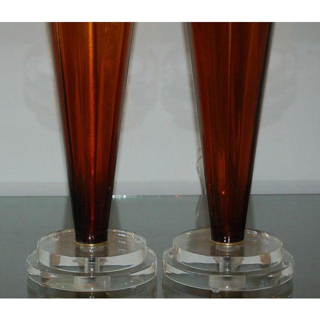 Vintage Italian Glass Teardrop Table Lamps For Sale In Little Rock - Image 6 of 9