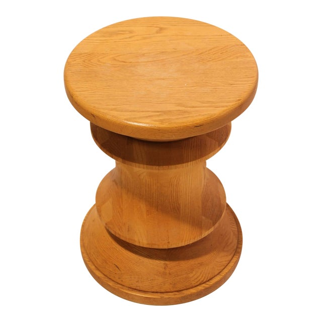 Midcentury Wood Stool or Side Table For Sale