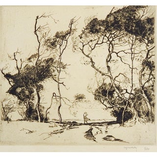 Windswept Beach by Alfred Hutty Etching For Sale