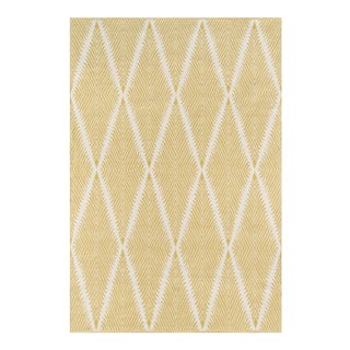 "Erin Gates by Momeni River Beacon Citron Indoor/Outdoor Hand Woven Area Rug - 3'6"" X 5'6"" For Sale"