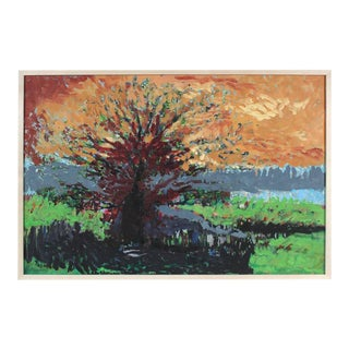 "Rip Matteson ""Ancestral Tree"" in Maroon, Orange, Green, Black, and Blue, Kensington, California Landscape, 2004 For Sale"