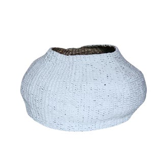 Contemporary White Bogel Basket For Sale