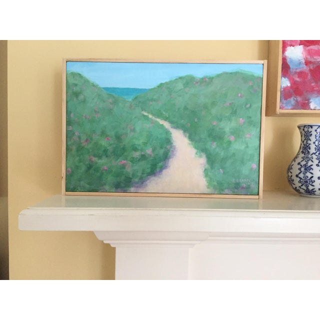 """Path Through the Beach Roses"" Contemporary Painting by Stephen Remick For Sale - Image 11 of 11"