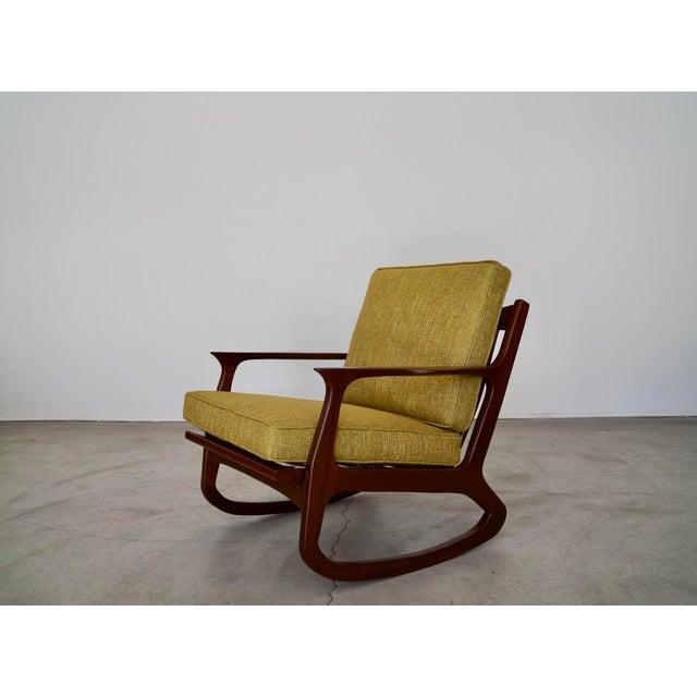 Danish Modern Ib Kofod Larsen Rocking Chair For Sale - Image 13 of 13