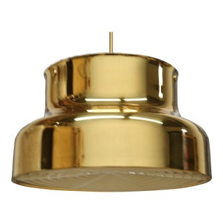 Scandinavian Swedish Design Bumling Brass Ceiling Pendant Light Fixture For Sale