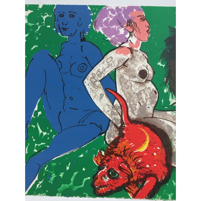 "Robert Beauchamp Original Lithograph ""Red Rat"" - Image 5 of 8"