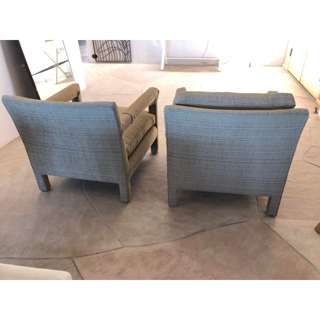 1970s Vintage Parsons Lounge Chairs - A Pair For Sale - Image 10 of 13