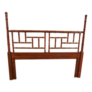 Faux Bamboo Queen Size Headboard For Sale