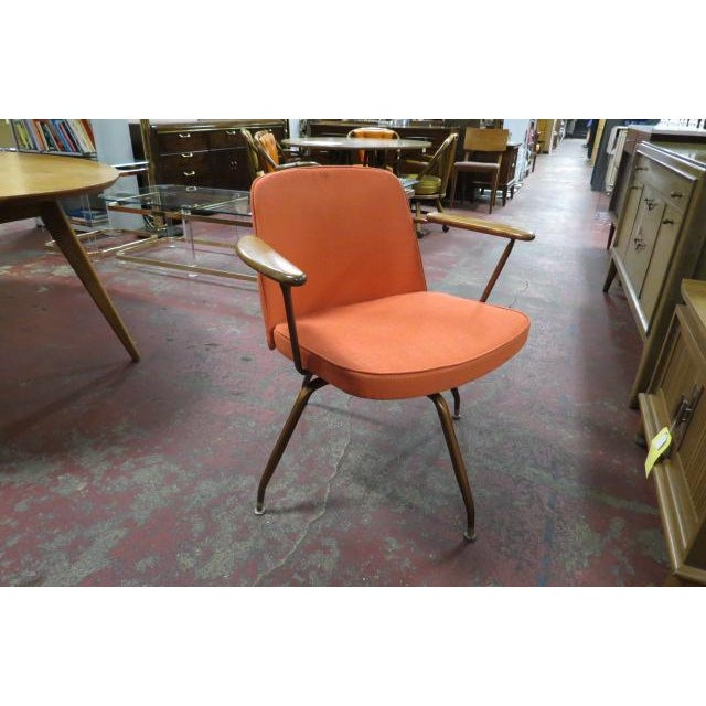 Metal Vintage Mid Century Modern Viko Baumritter Swivel Chair For Sale - Image 7 of 7