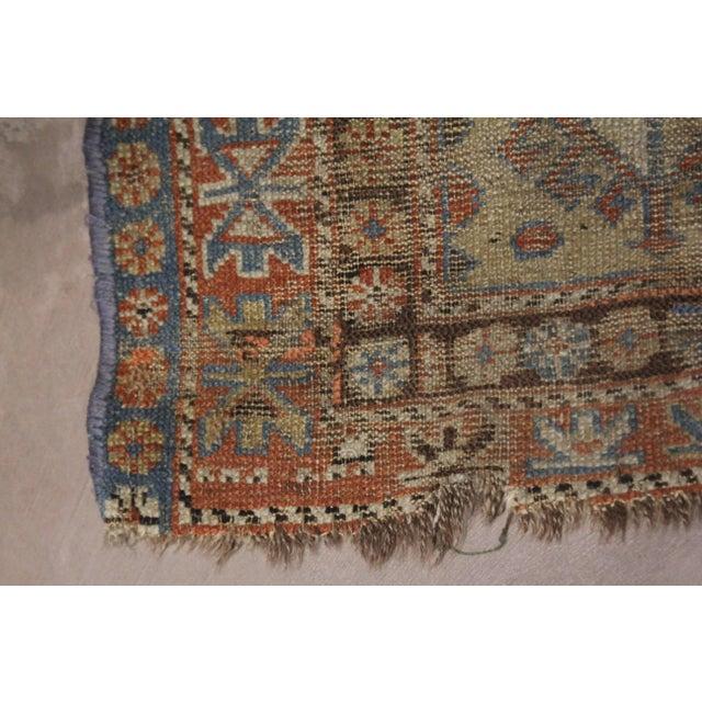 Mid 19th Century Late 19th Century 'Super Worn' Antique Caucasian Rug For Sale - Image 5 of 9