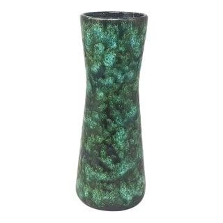 1970s Green Vintage Original Scheurich Vase 206-27 For Sale