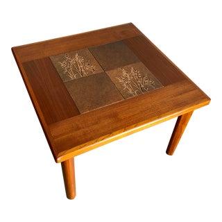 Vintage Mid-Century Danish Modern Tile Top Side Table by Gangso Mobler For Sale