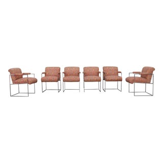 Milo Baughman Set of 6 Dining Chairs