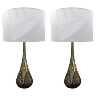 Laurel Lamps Co. Maurizio Tempestini Table Lamps - a Pair For Sale