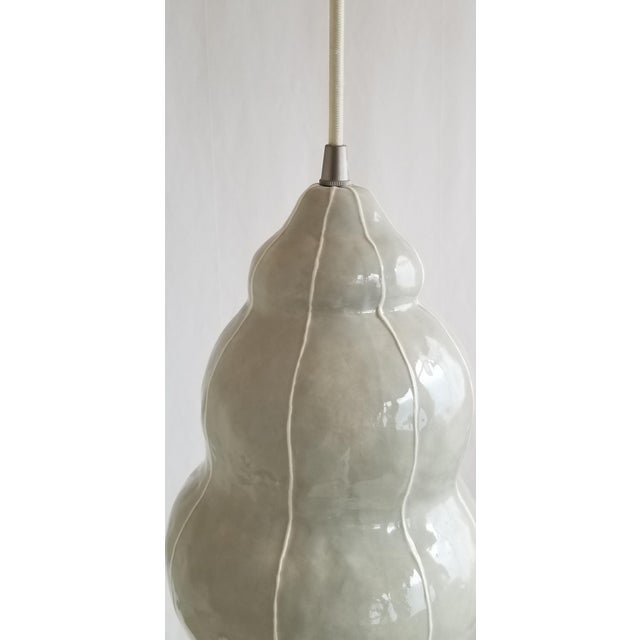 2020s Modern Handmade kRI kRI Studio Ceramic Gray Pendant Light For Sale - Image 5 of 9