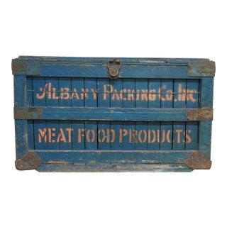 Antique Albany Packing Co. Crate or Box Stenciled For Sale