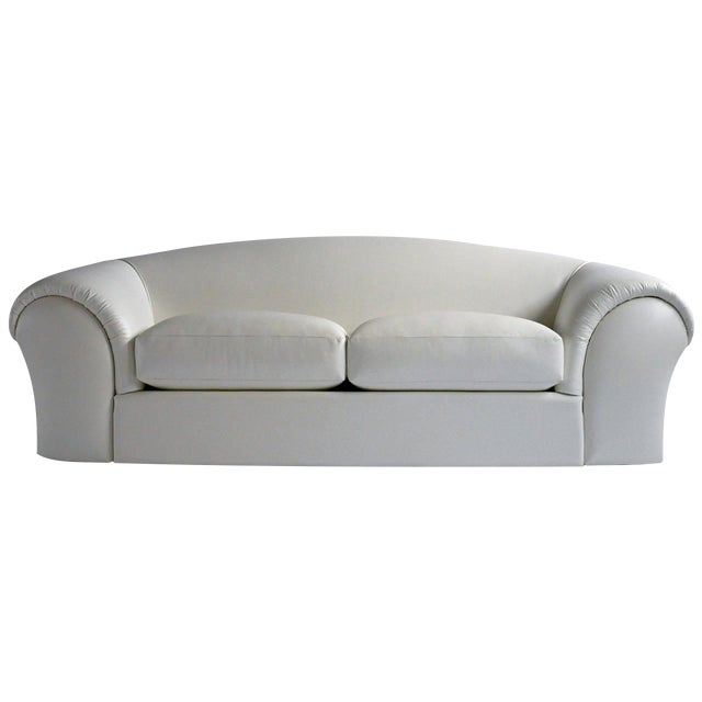 Robert Venturi White Leather Sofa for Knoll For Sale
