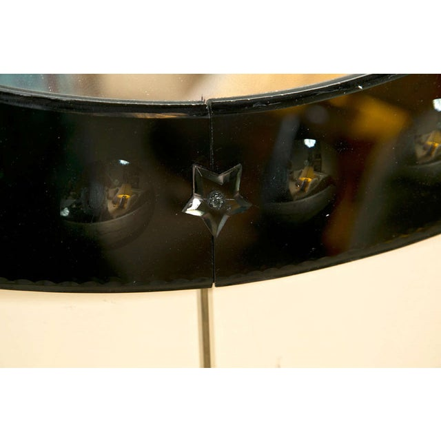Round Black Glass Framed Mirror - Image 2 of 4