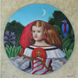 2020 The Little Princess Acrylic Painting on Canvas by Tom Miller For Sale