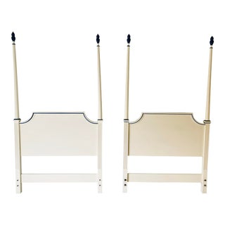 Hollywood Regency Style Twin Headboards 73 X 40 Pair For Sale