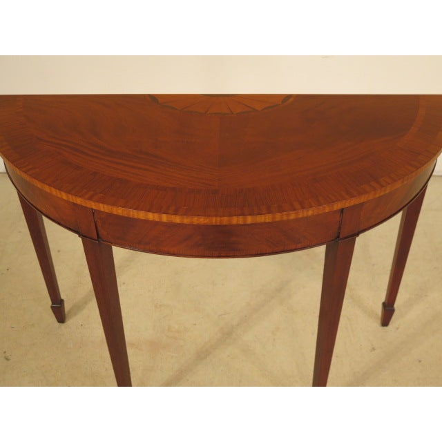 Federal Style Mahogany Demilune Tables - A Pair - Image 3 of 11