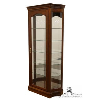 """20th Century Traditional Jasper Cabinet Solid Colonial Cherry 37"""" Curio Display Cabinet Preview"""
