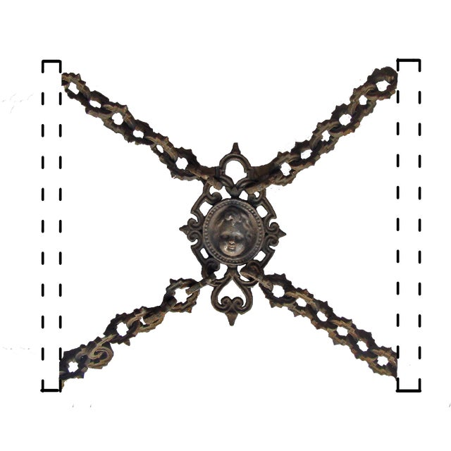 Late 19th Century 19th C. French Iron Garden Decorative Accent / Fence Panel For Sale - Image 5 of 5