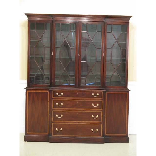 Kittinger Richmond Hill Collection Mahogany Breakfront For Sale - Image 13 of 14