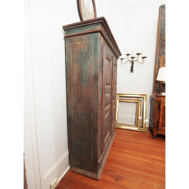 A PAINTED EUROPEAN ARMOIRE For Sale - Image 11 of 11
