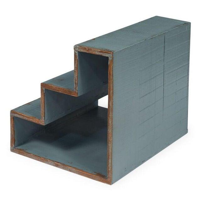 Sarreid Ltd Pale Blue Step Side Table - Image 2 of 5