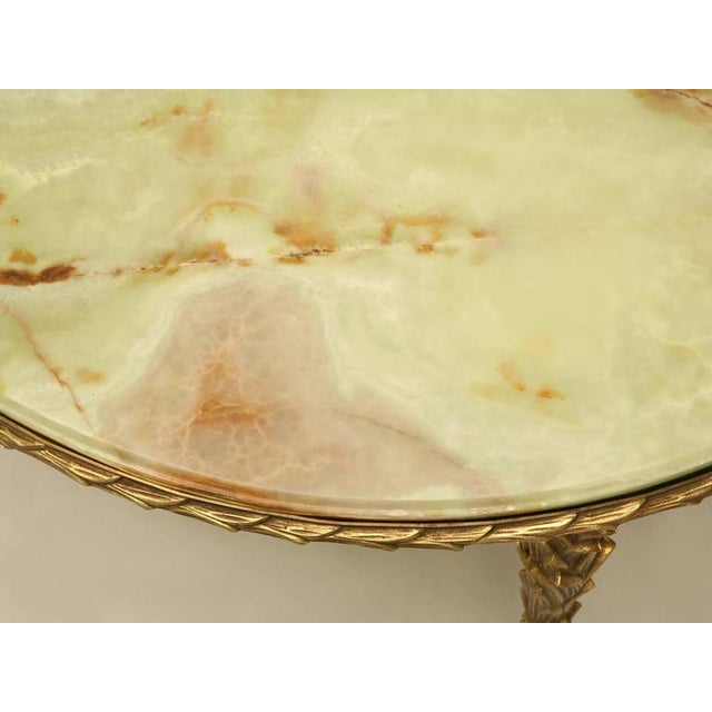 1940s Maison Bagues Bronze Coffee Table With Onyx Top For Sale - Image 5 of 10