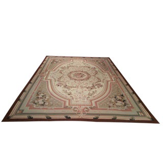 Aubusson Needlepoint Rug - 12x15 For Sale