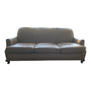 Vintage Henredon Leather Sofa For Sale