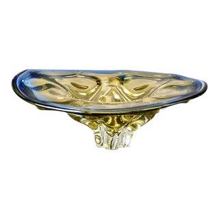 Mid Century Czech Art Glass Center Bowl